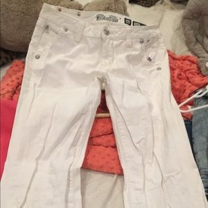 Size 31 miss me flare white jeans